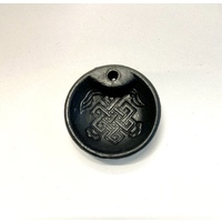 Incense Black Round Holder