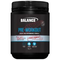 Balance Pre-Workout Fruit Punch 450g